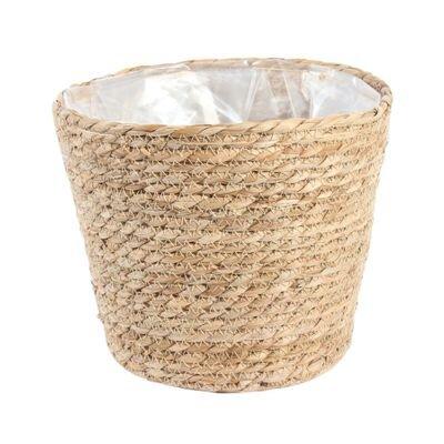 Round Natural Seagrass Basket [23 cm]