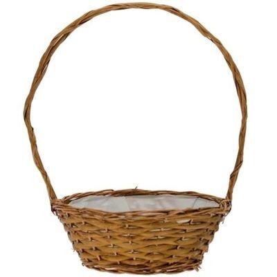 Golden Round Basket [10 Inches]