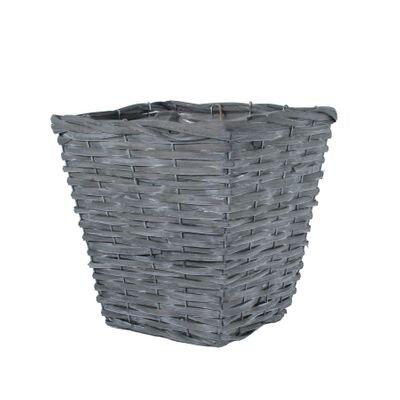 Square Woodhouse Basket – Grey Wash [25 cm]