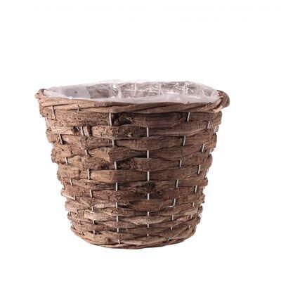 Round Brown Bark Planter [25 cm]