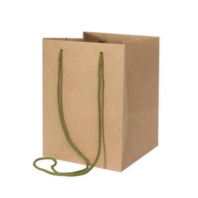 Ribbed Kraft Hand Tie Bag [19 x 25 cm]