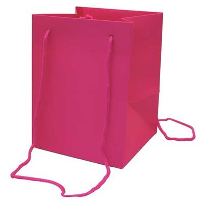 Small Cerise Hand Tie Bag