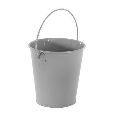 Grey Zinc Drop in Bucket 9cm