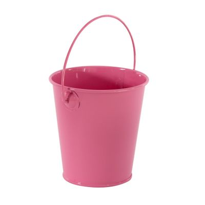 Pink Zinc Drop in Bucket 9cm