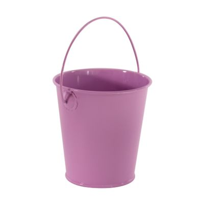 Pastel Lilac Zinc Drop in Bucket 9cm
