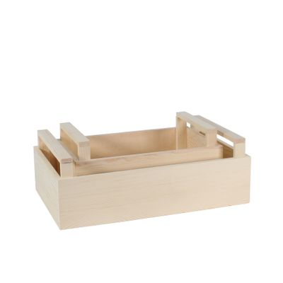 2 Wooden Crate with Handles