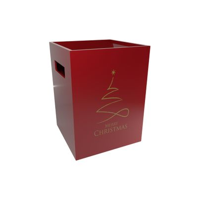 Contemporary Christmas Pearlised Red Flower Box [x10 Boxes]