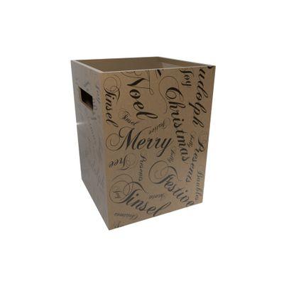 Seasonal Greetings Nat Kraft Flower Box (x10)