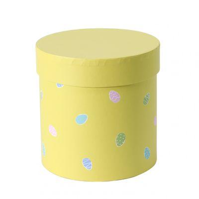 Small Round Yellow Egg Design Hat Box 14cm
