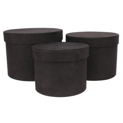 Black Hat Box (Set of 3)