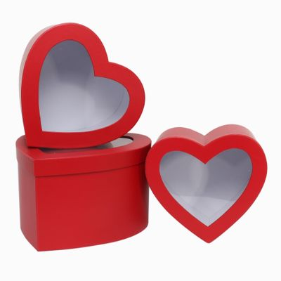 Red Heart Hat Box Set with Window