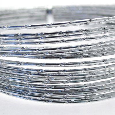 Silver Diamond Cut Aluminum Wire