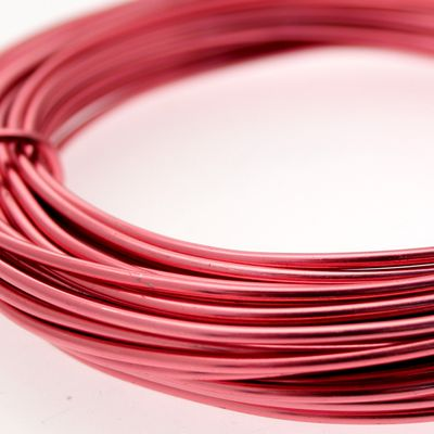 Rose Pink / Light Red Aluminum Wire