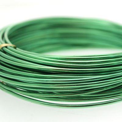 Dark Green Aluminum Wire