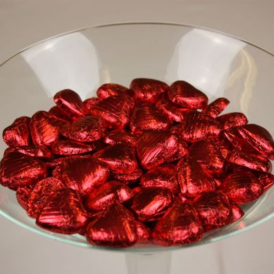 Red Foil Chocolate Hearts