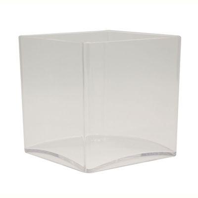 12cm Square Acrylic Vase