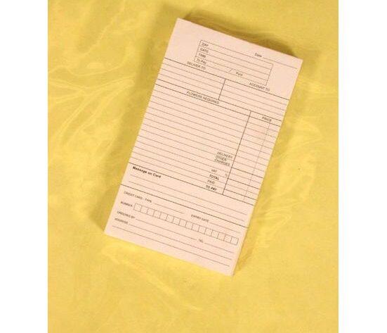 Shop Order Pad