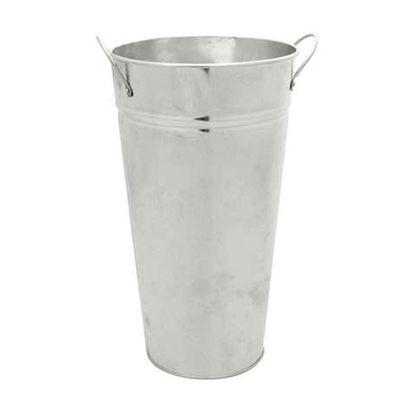 Galvanised Vase (30cm)