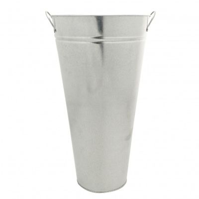 Galvanised Vase With Ears 45cm