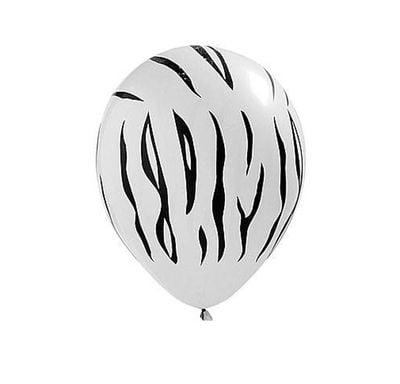 Zebra Stripes Latex Balloons Pack of 25