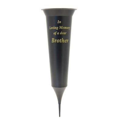 Black Brother Grave Vase