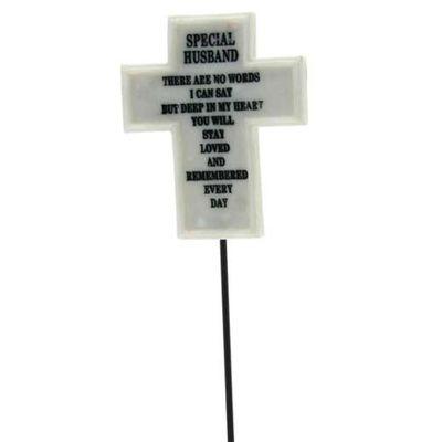 Special Husband Memorial Cross Pick