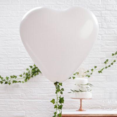 Giant Heart Balloons – White