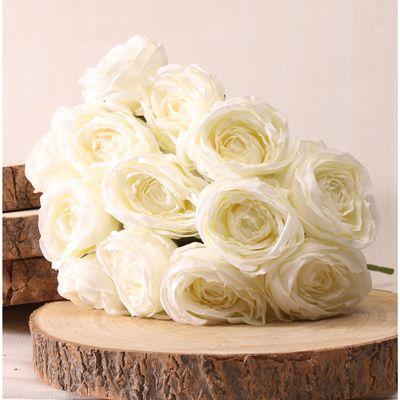 Tea Rose Flower Bunch Cream [40 cm]