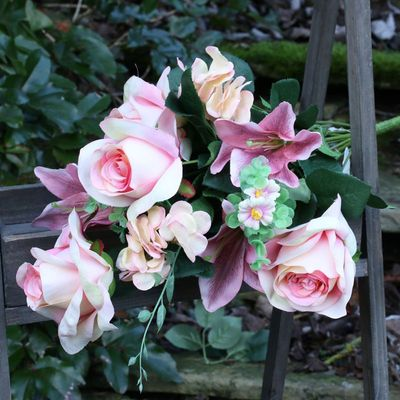 Lily Rose Mix Peach Bunch