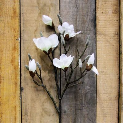 White Real Touch Magnolia Spray