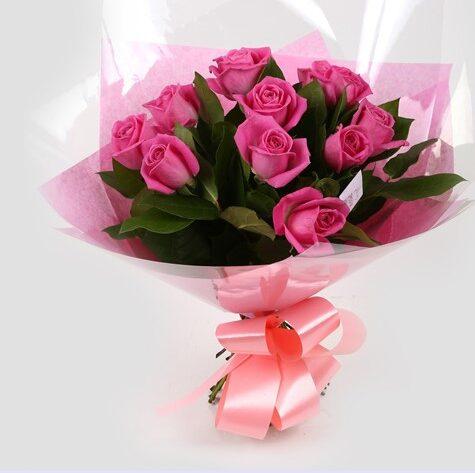 12 Pink Roses-Clear Savings