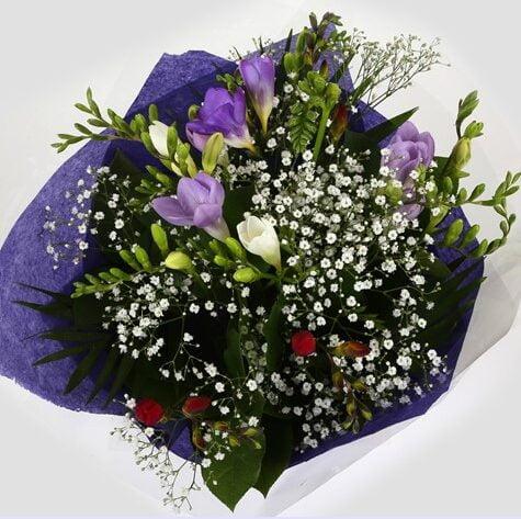 Freesias & Gypsophila Bouquet