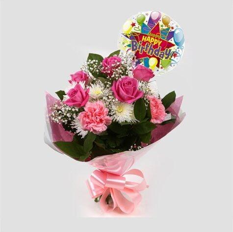 Birthday Balloon & Strawberry Pink Blush
