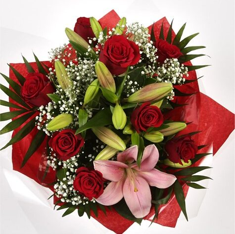 Special Rose and Lily Bouquet