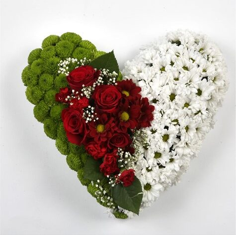 CLASSIC HEART-RED-WHITE & GREEN