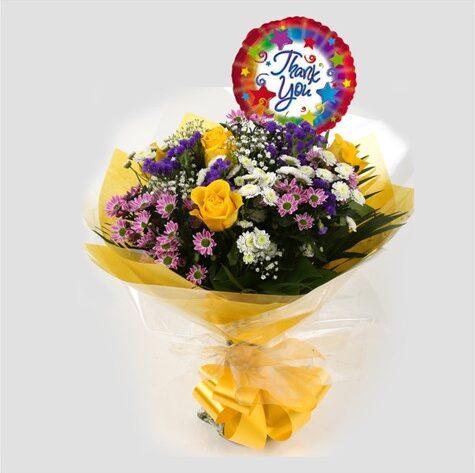 Thank You Balloon & Charm Bouquet