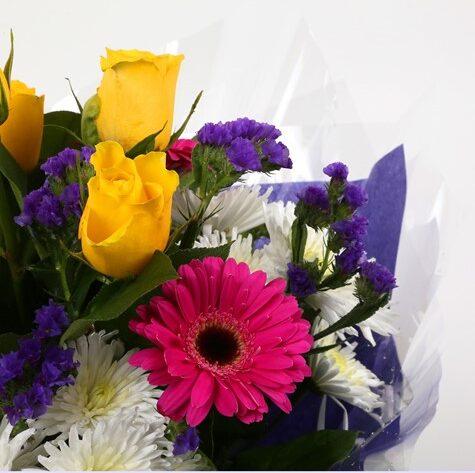 Happy Birthday Balloon & Starburst Bouquet